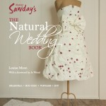 Book cover of The Natural Wedding Book By Louise Moon showing paper wedding dress